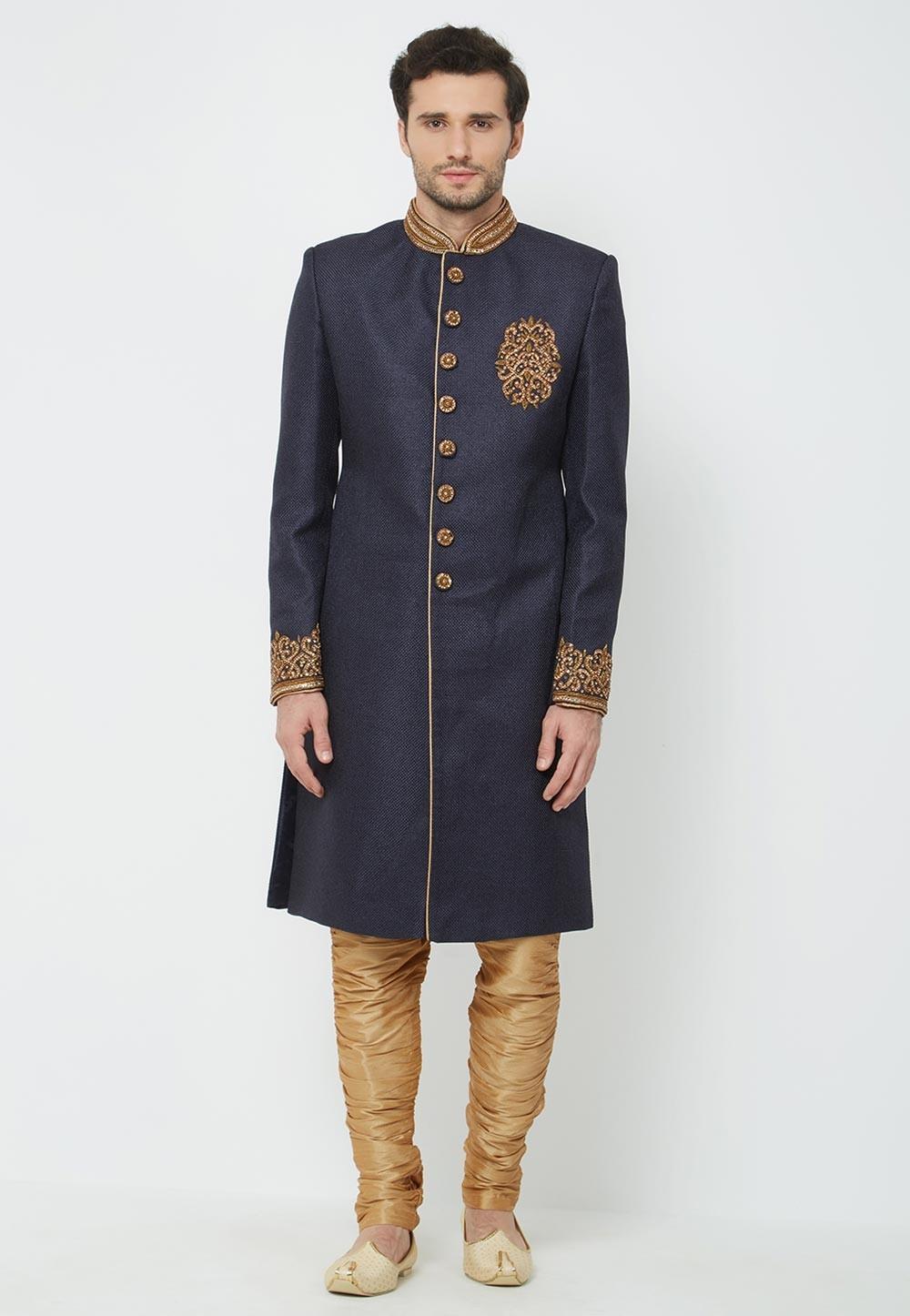 Men's Indowestern Blue Colour.