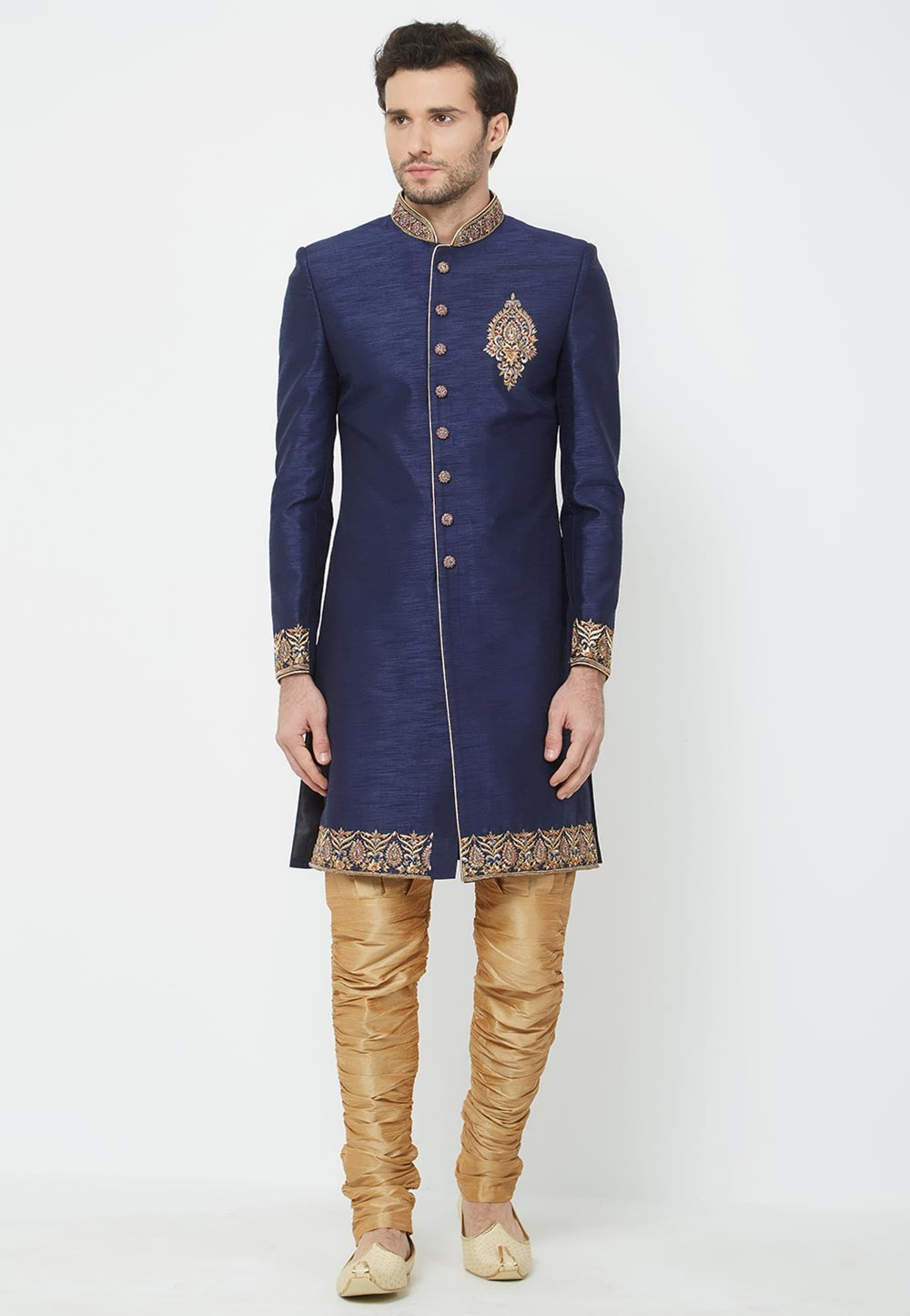 Blue Colour Designer Indowestern.