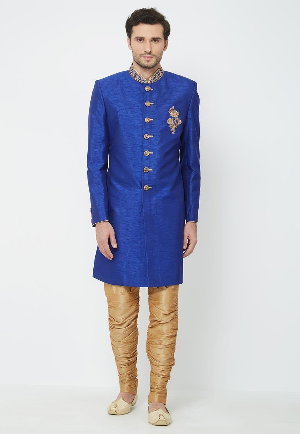 Royal Blue Colour Indowestern.