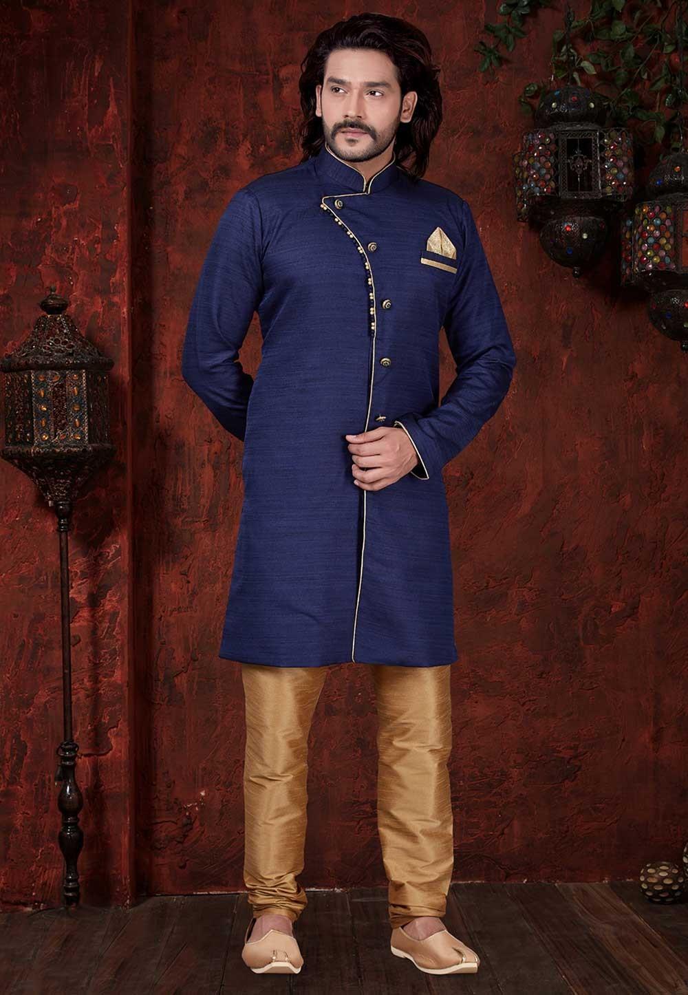Blue Colour Stylish Designer Indowestern.
