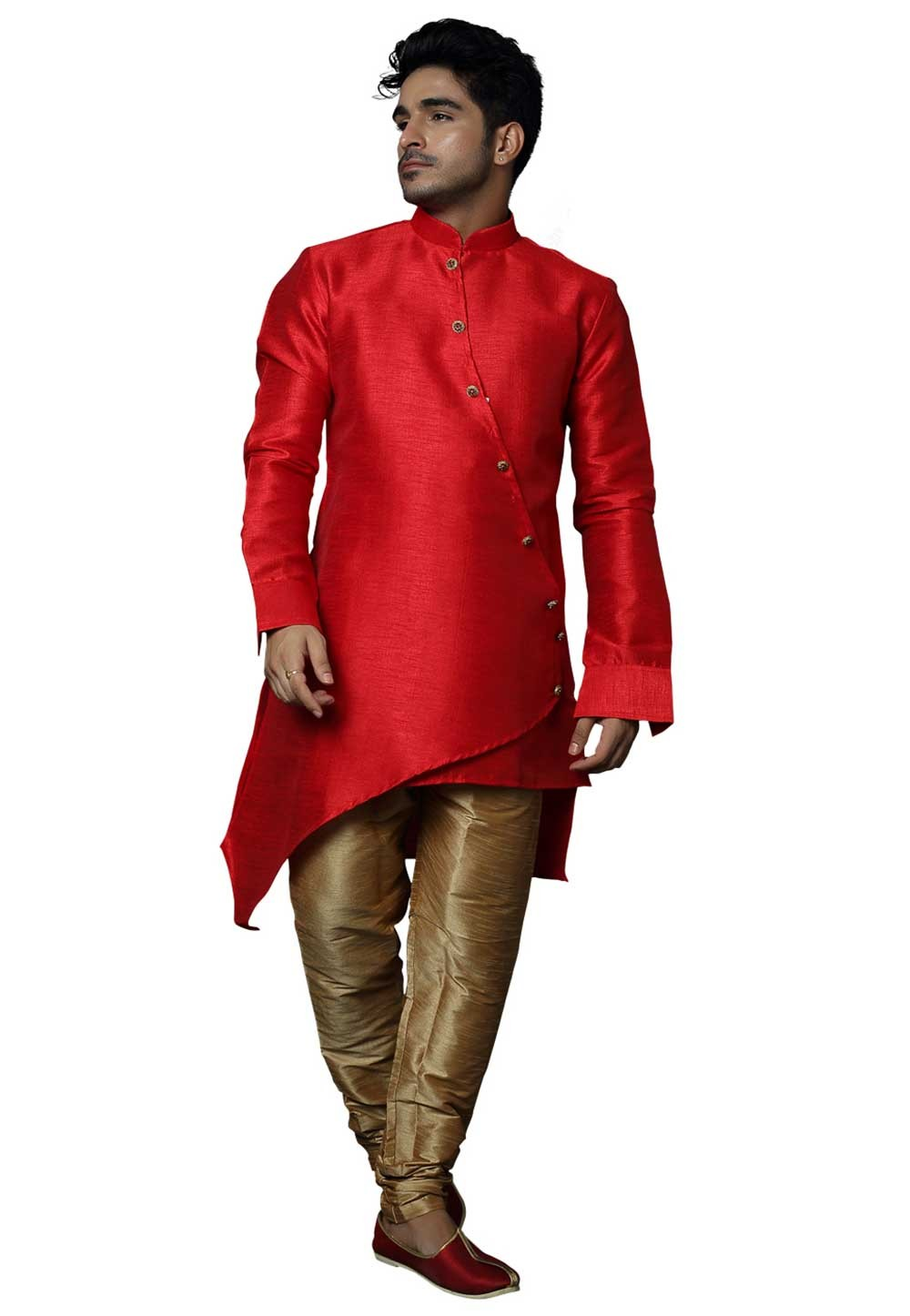 Red Colour Wedding Indowestern.