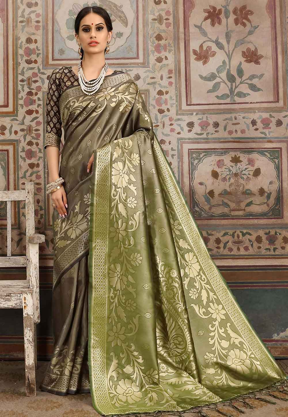Beige Colour Silk Saree.