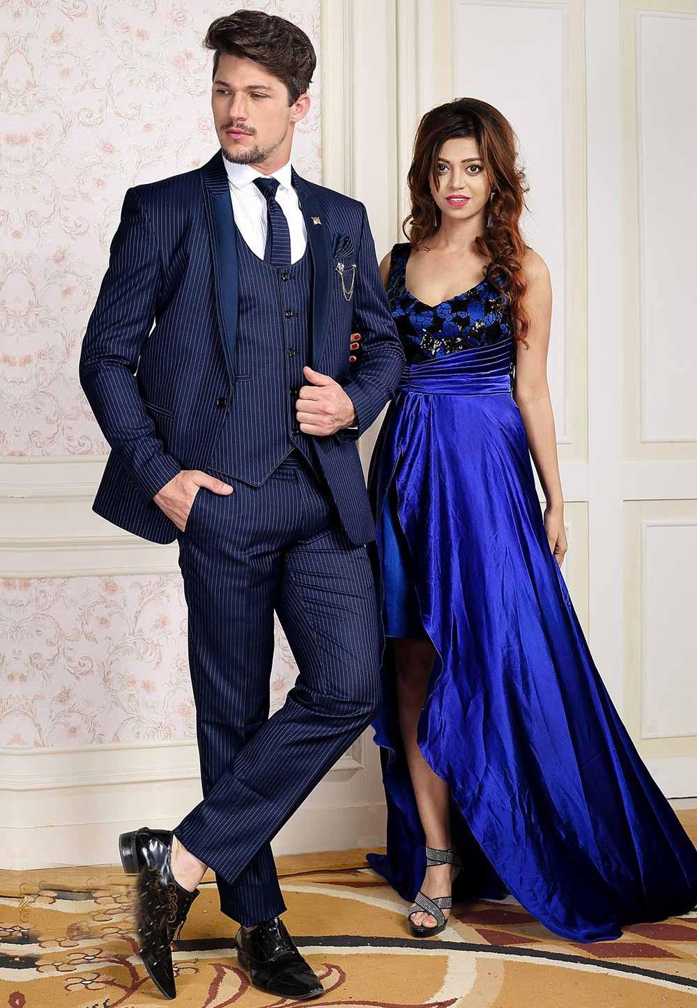 Stylish Designer Blue Colour Men's Suit.