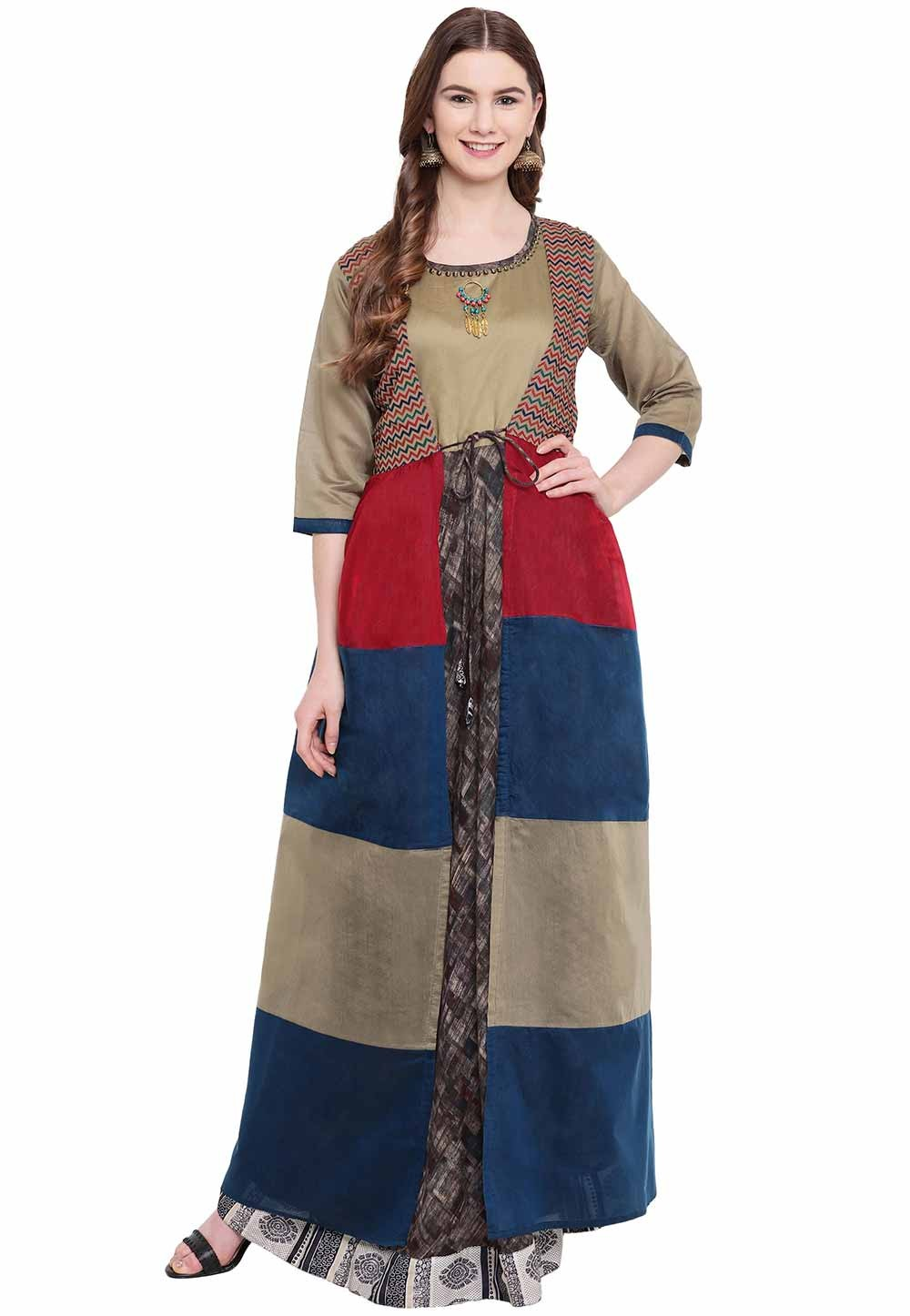 Multi Colour Designer Kurti.