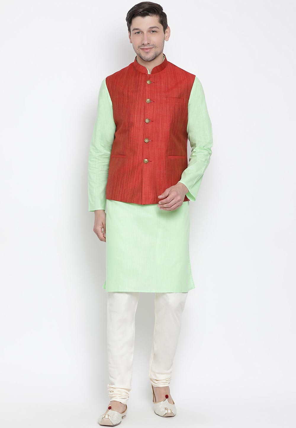 Green,Maroon Colour Kurta Pajama.