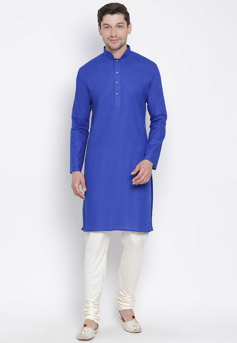 Royal Blue Color Men's Kurta Pyjama.