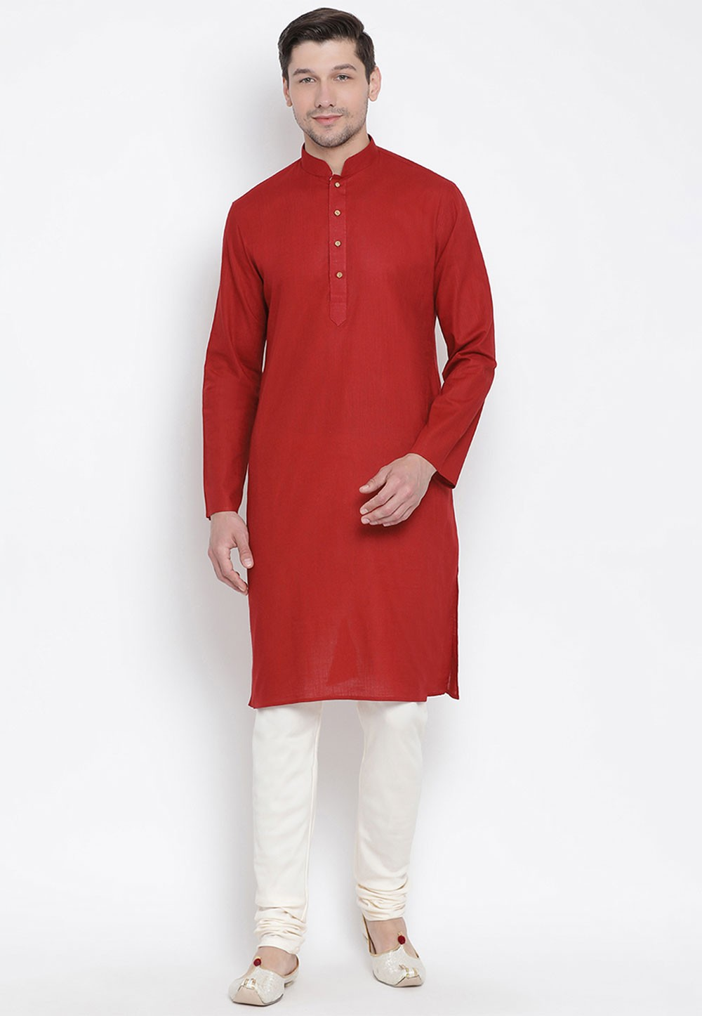 Maroon Colour Indian Kurta Pyjama.