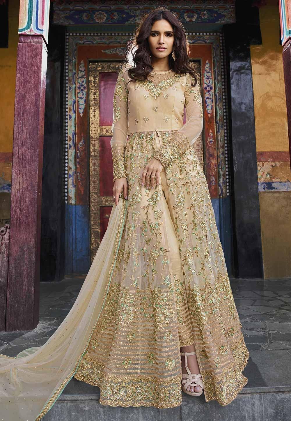 Cream Color Designer Salwar Suit.