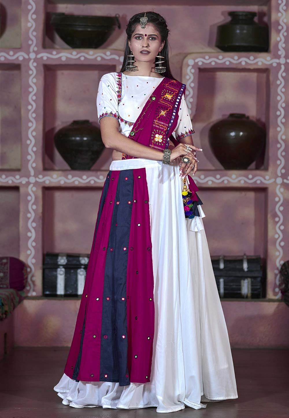 White Colour Designer Lehenga Choli.