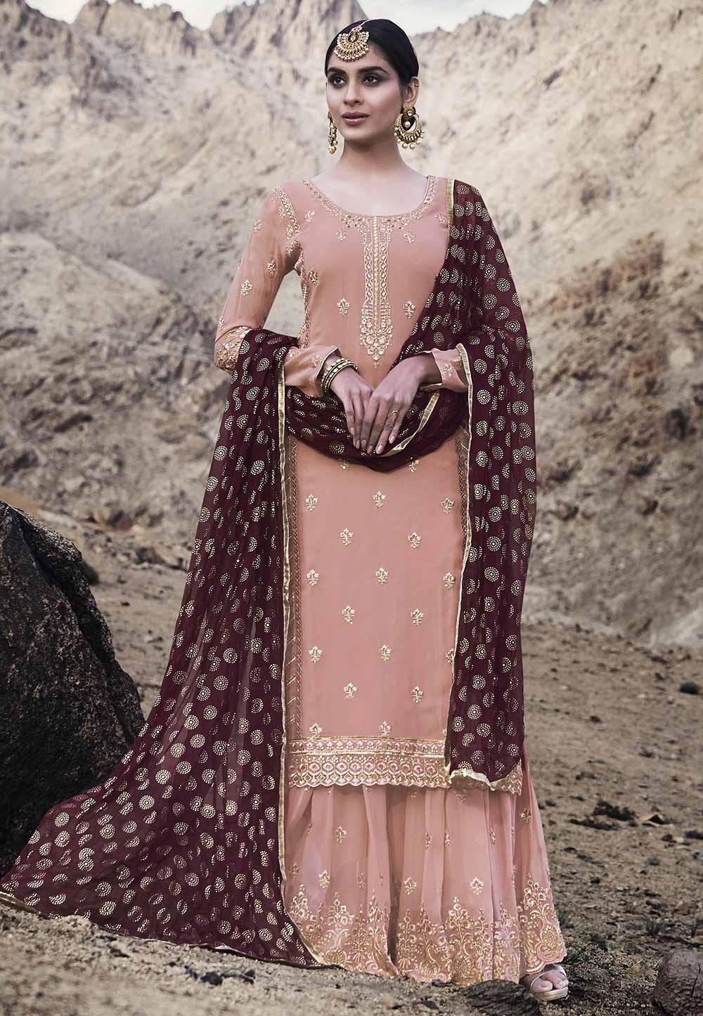 Baby Pink Colour Salwar Suit.