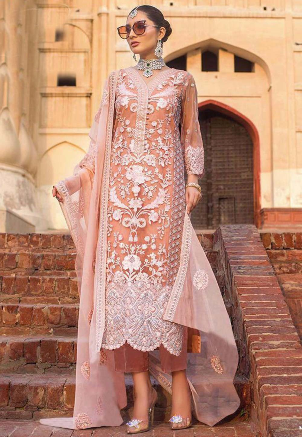 Baby Pink Colour Designer Salwar Kameez.