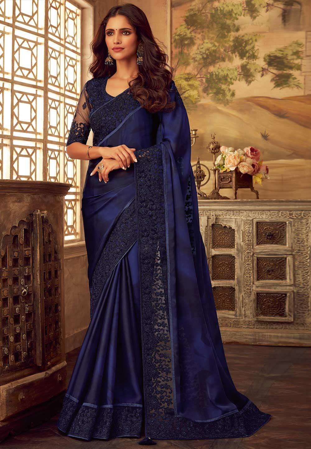 Royal Blue Colour Saree.