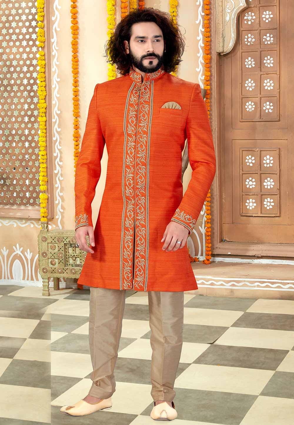 Banglori Silk Fabric Men's Indowestern.