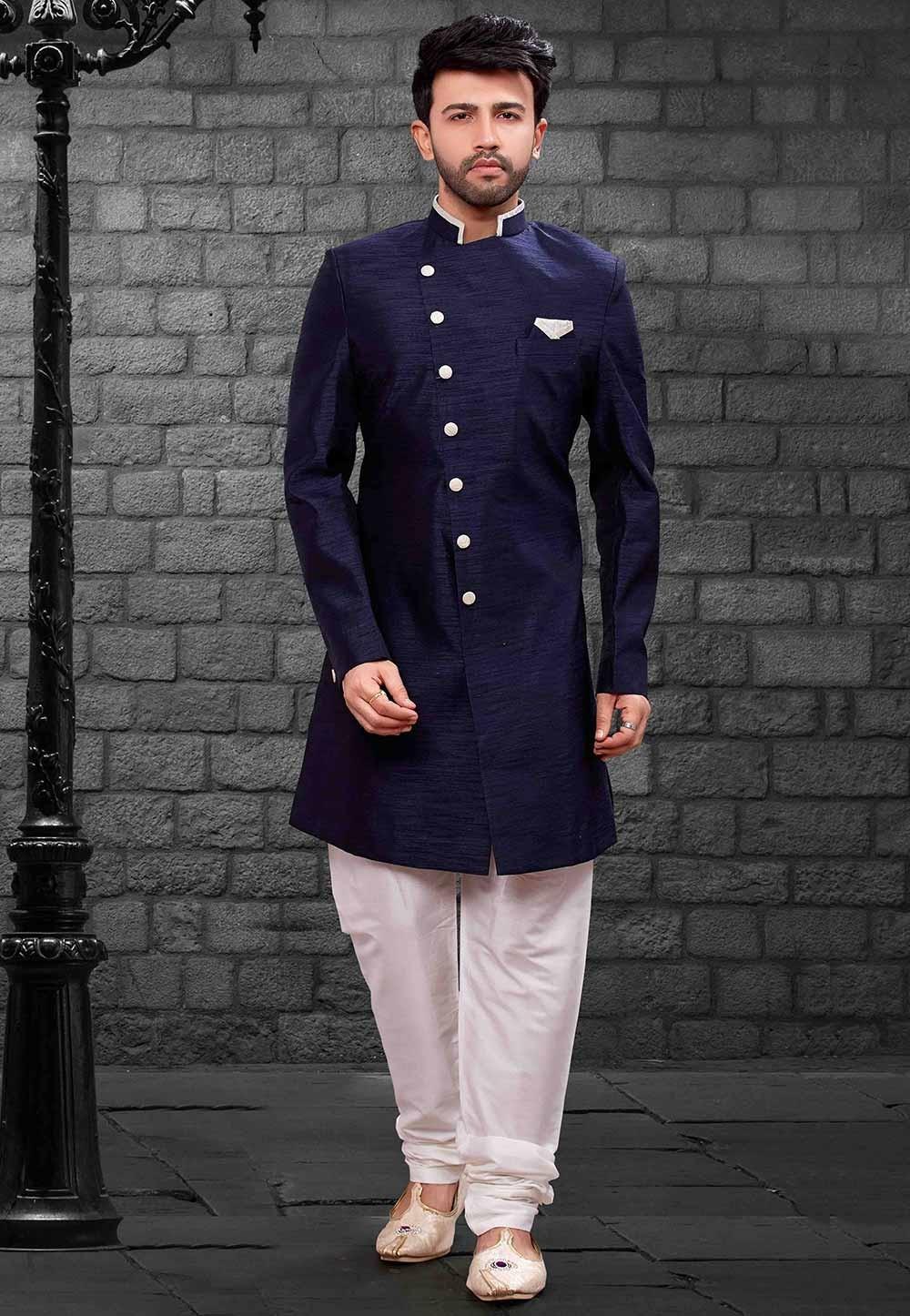 Blue Colour Indowestern.