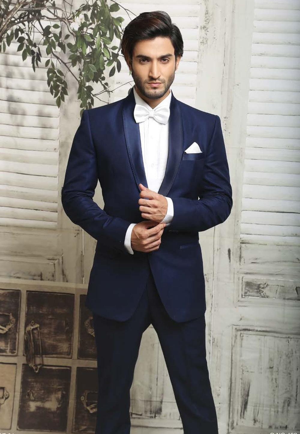 BLUE COLOR & ITALIAN FABRIC DESIGNER SUIT