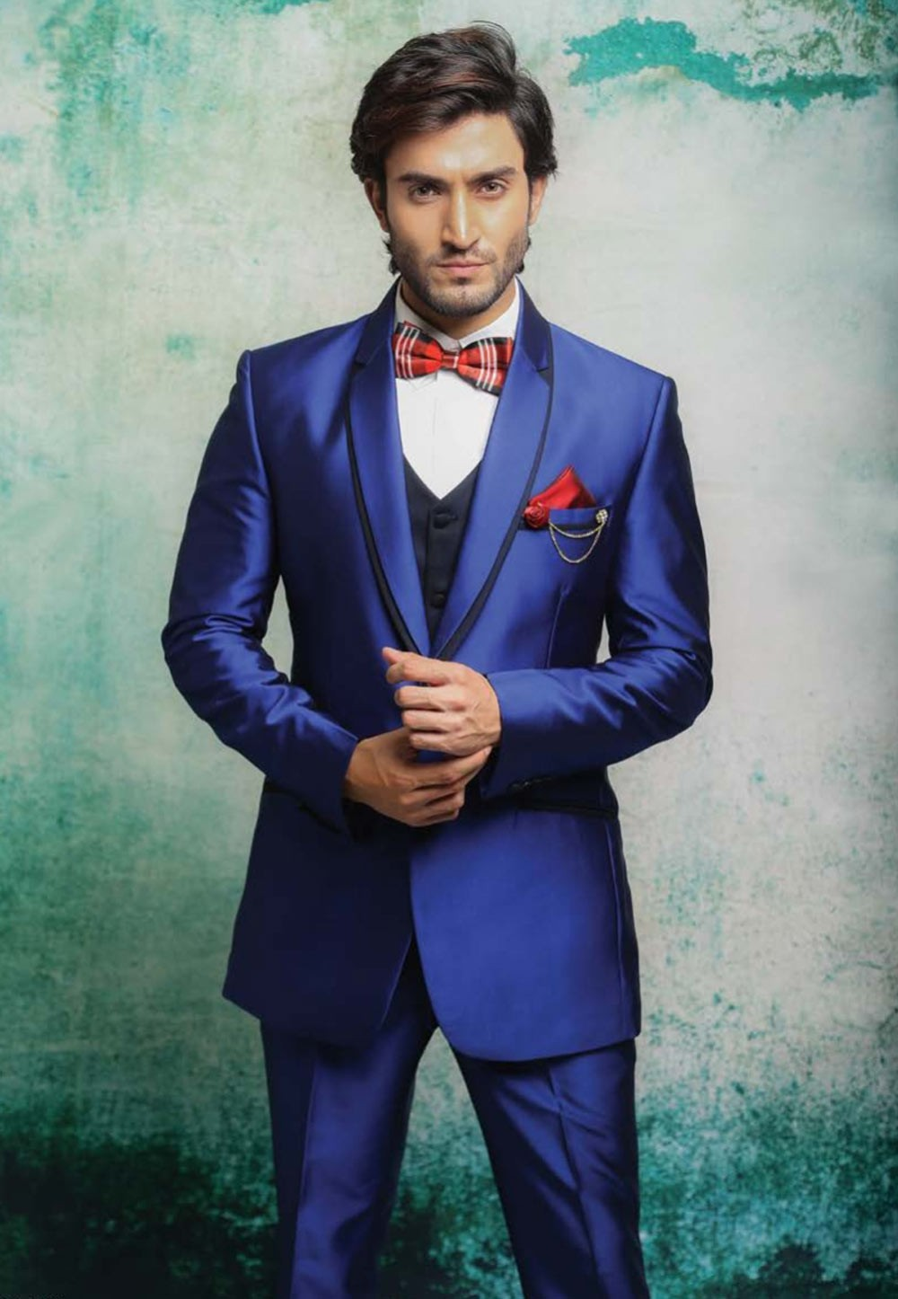 Good looking blue color tuxedo suit online for mens