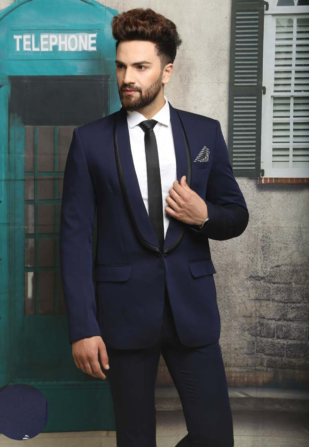 BLUE COLOR MEN\'S WEDDING SUIT