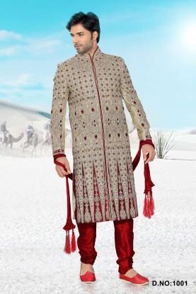 Buy Golden Men Designer Sherwani