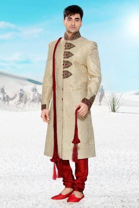 Buy golden designer sherwani