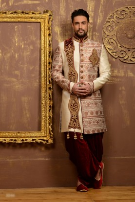 CREAM COLOUR RAVISHING INDOWESTERN