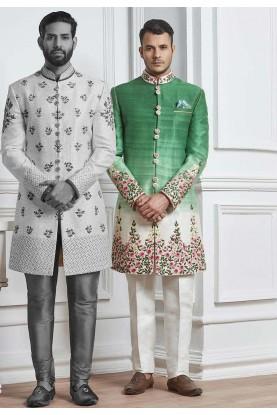 Cream,White Color Men's Indowestern.