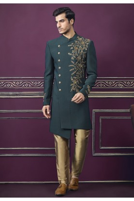 Green Colour Imported Fabric Men's Indo.