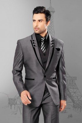 Buy grey color mens wedding suits online