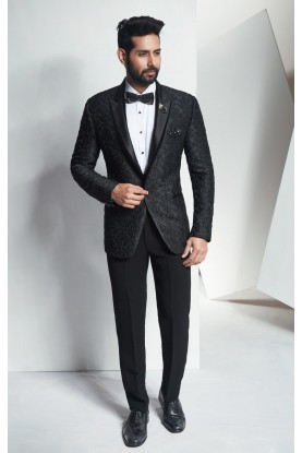 Buy black designer mens tuxedo suit online