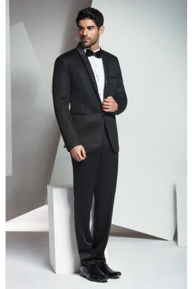 Buy latest designer black tuxedo suit for mens online