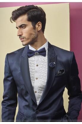 Blue Colour Designer Tuxedo Suit.
