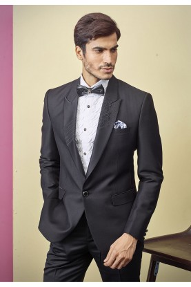 Buy Designer black mens tuxedo suit online