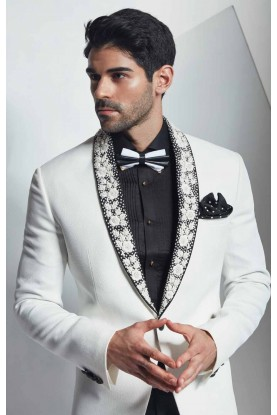 Auspicious White Tuxedo Suit Online for Mens