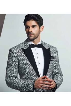 Best Wedding Suits for Men in Unique Style Tuxedo Suit Black & White Color