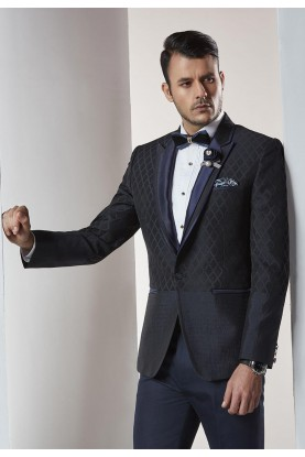 Designer Suits for Men Black,Blue Color Designer Wedding Suit