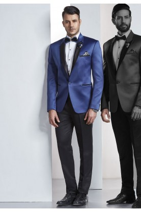 Designer Suits for Men Blue Color Tuxedo Suit