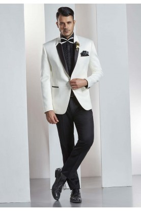 Buy designer suits for men in white color