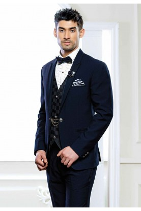 Buy designer suits for men in blue colour