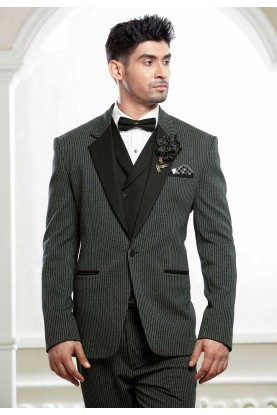 Buy designer suits for men in black, grey colour