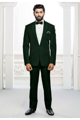 Buy designer suits for men in green colour online