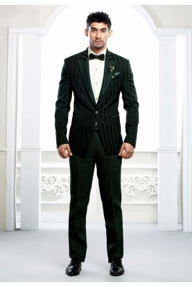 Buy designer suits for men in green colour