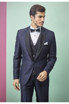 Indian Designer Men's Suit Blue Colour.