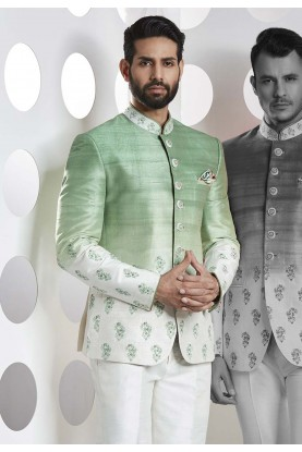 Buy best designer suits for men in green color online