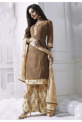 Wonderful Salwar Kameez in Brown Color