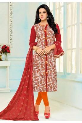 Multi Color Cotton Beautiful Salwar Kameez