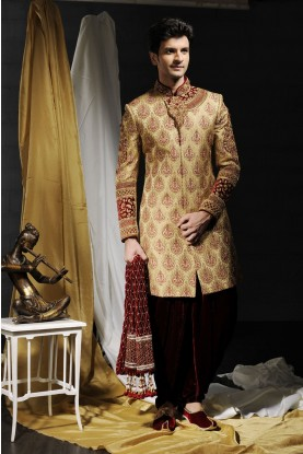 Flamboyant Beige Men`S Wear