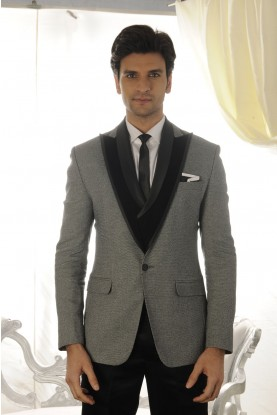 Buy Grey colour elegant mens tuxedo suit online