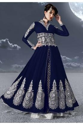 Blue Colour Anarkali Suit.