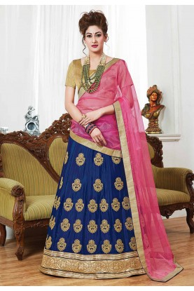 Blue Color Georgette Lehenga.