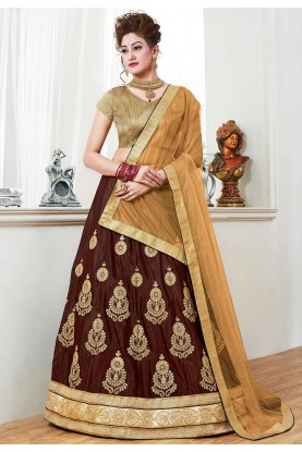 Brown Color Bridesmaid Lehenga.
