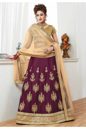 Purple Color Bridesmaid Lehenga Choli Online